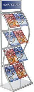 Trade Show Literature Rack Freestanding Large - With Literature