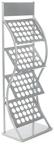 Trade Show Literature Rack Freestanding Large - Front View
