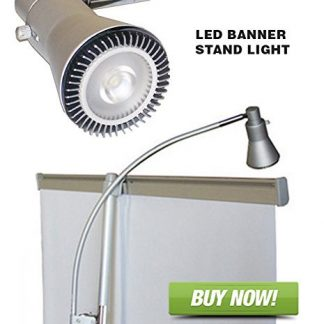 Trade Show LED Lighting - Clip On for Stand Up Banners